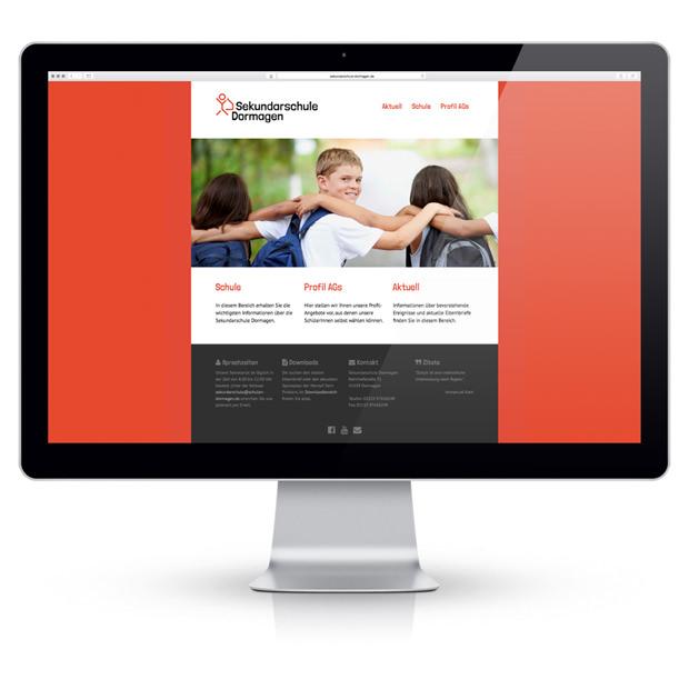 Sekundarschule Dormagen - Wordpress Webdesign von SagurnaDesign